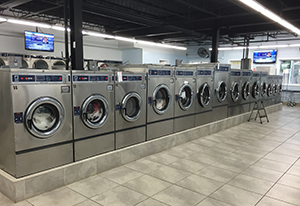 Interior View of the Orchard Laundromat in Glen Cove